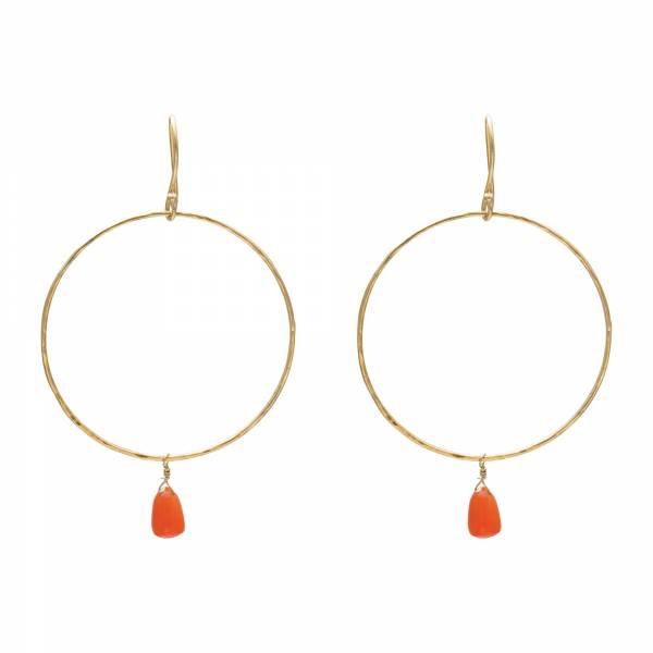 Embrace Carnelian Gold Earrings
