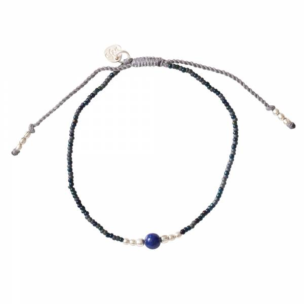 Iris Lapis Lazuli Silver Bracelet