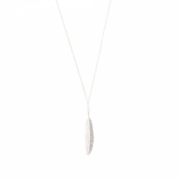Delicate Feder Sterlingsilber Halskette