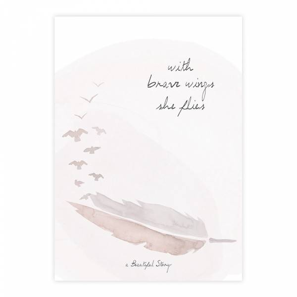 Greeting Card Feather