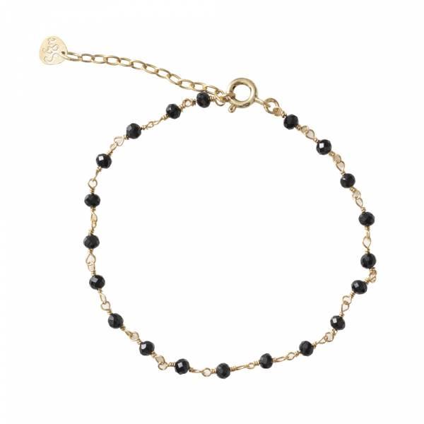 Harmony Zwarte Onyx Sterling Zilver Verguld Armband