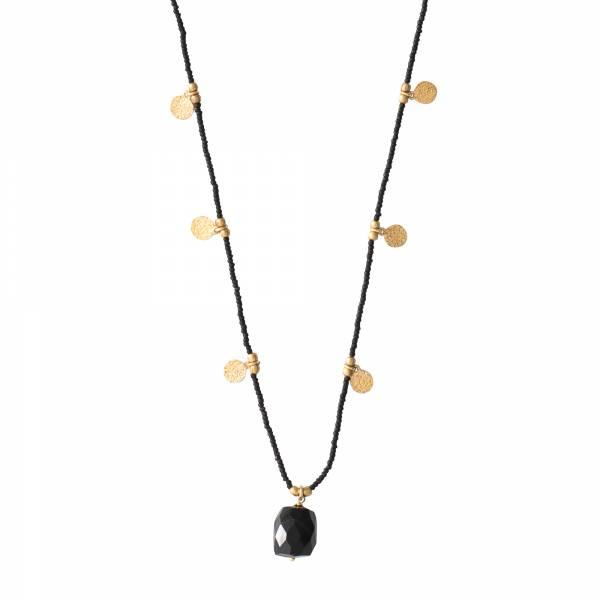 Charming Zwarte Onyx Goud Ketting