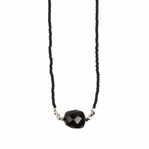 Joy Zwarte Onyx zilver ketting