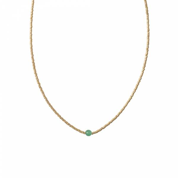 Flora Aventurine Gold necklace