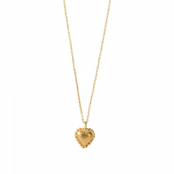 Delicate Heart Gold Necklace