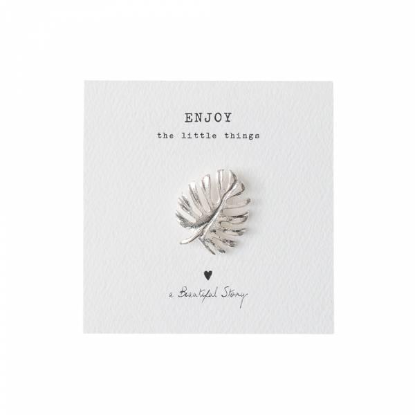 Brooch Leaf Silver