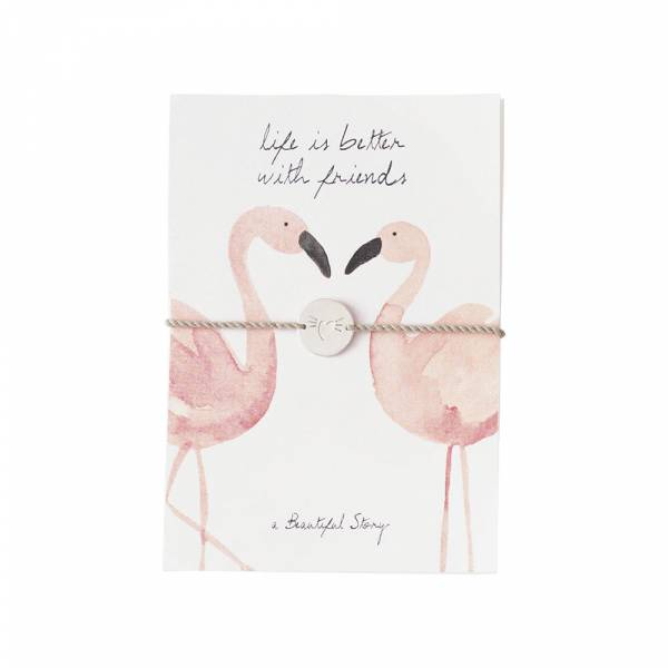 Jewelry Postcard Flamingos