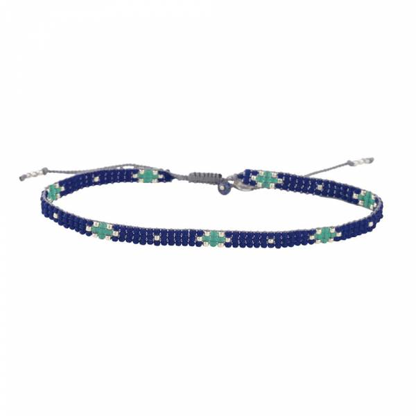 Sunflower Lapis Lazuli Silver anklet