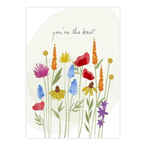 Greeting Card Flowerfield