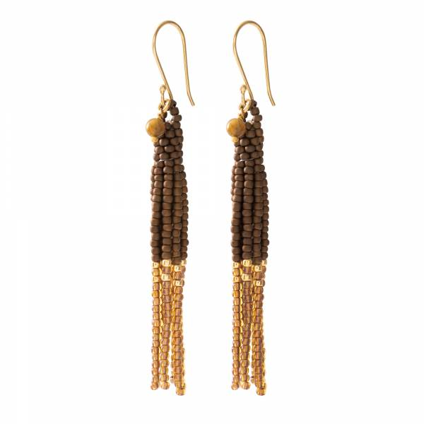 Dream Tiger Eye Gold Earrings