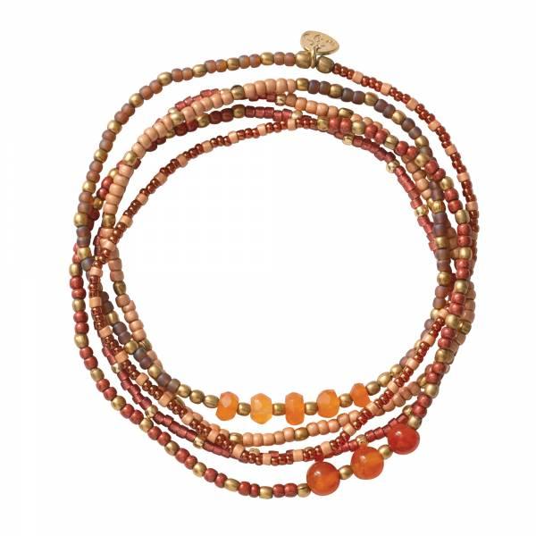 Together Carnelian Gold Bracelet