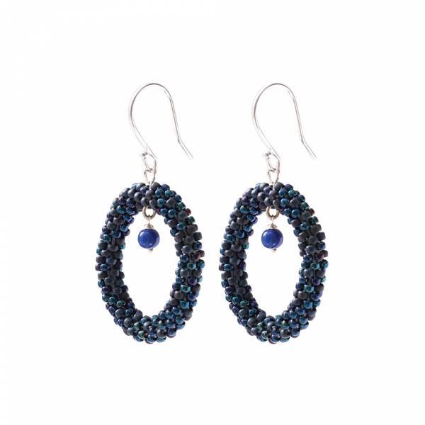 Faith Lapis Lazuli Zilver Oorbellen