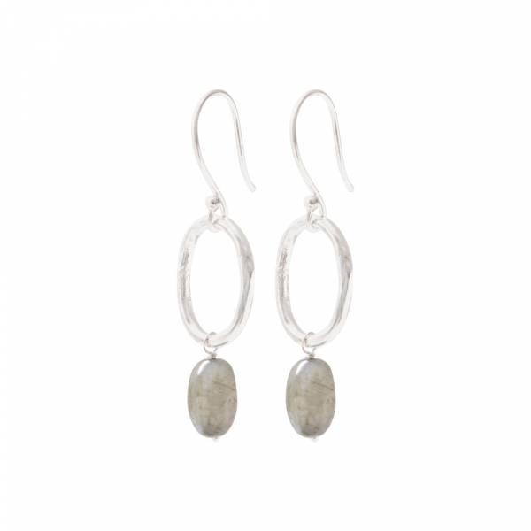 Graceful Labradorite Silver Earrings