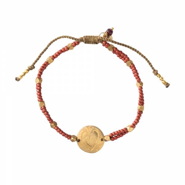 Gratitude Granaat Goud Armband