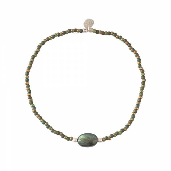Winter Labradorite Silver Bracelet
