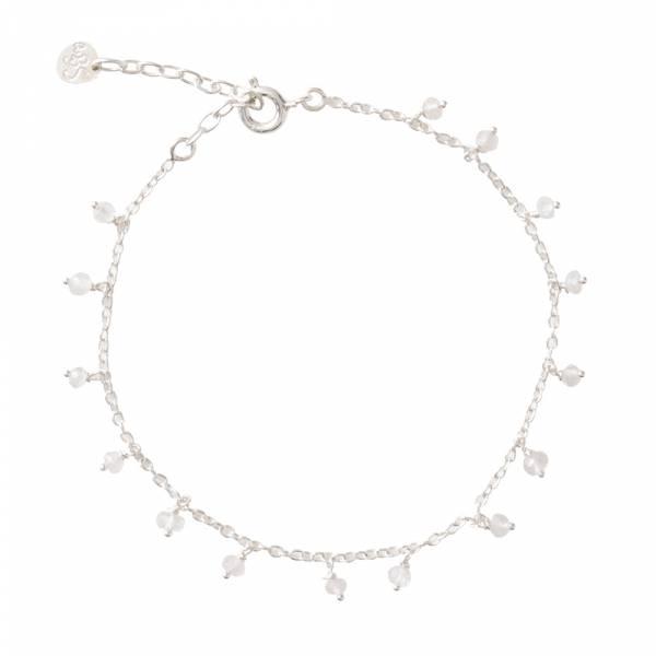 Fine Rozenkwarts Sterling Zilver Armband