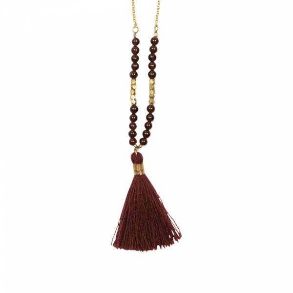 Happy Garnet gold necklace