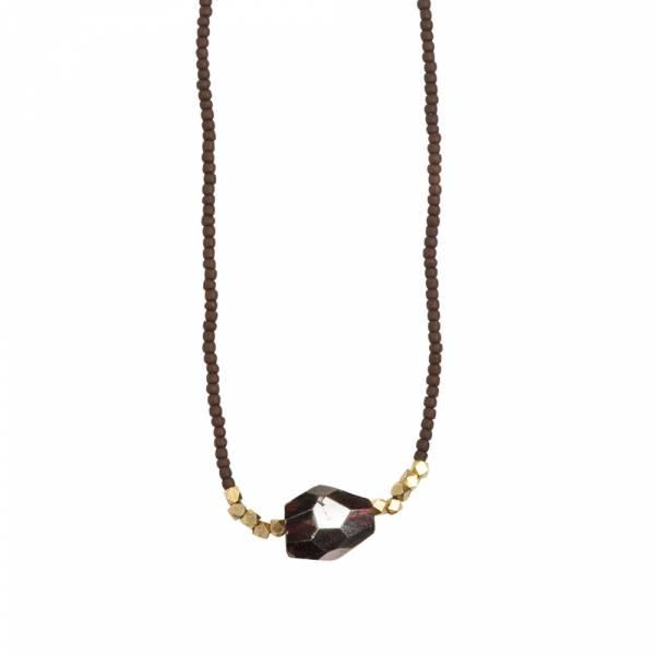 Joy Garnet gold necklace
