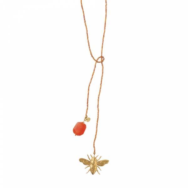 Nova Carnelian Gold necklace