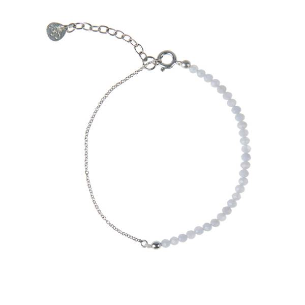 Darling Blauer Achat Sterlingsilber Armband