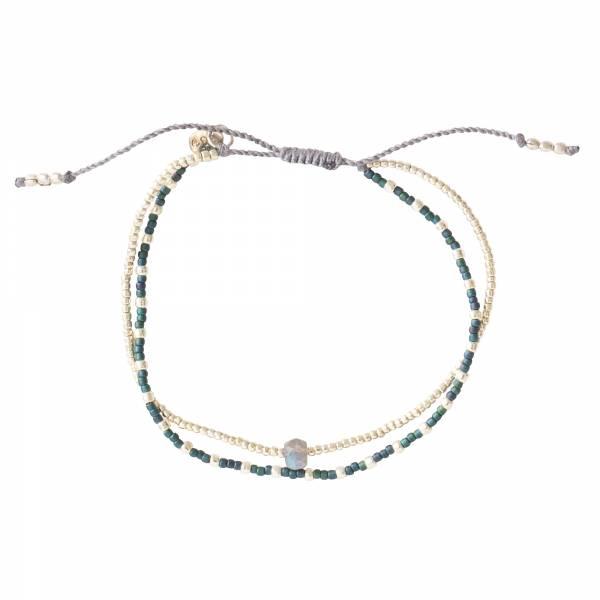 Friendship Labradorite Silver bracelet
