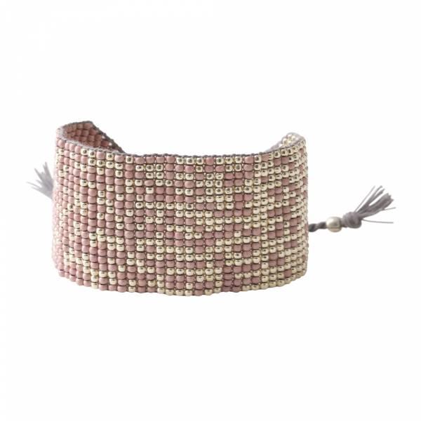 Sunny Rose Quartz Silver Bracelet