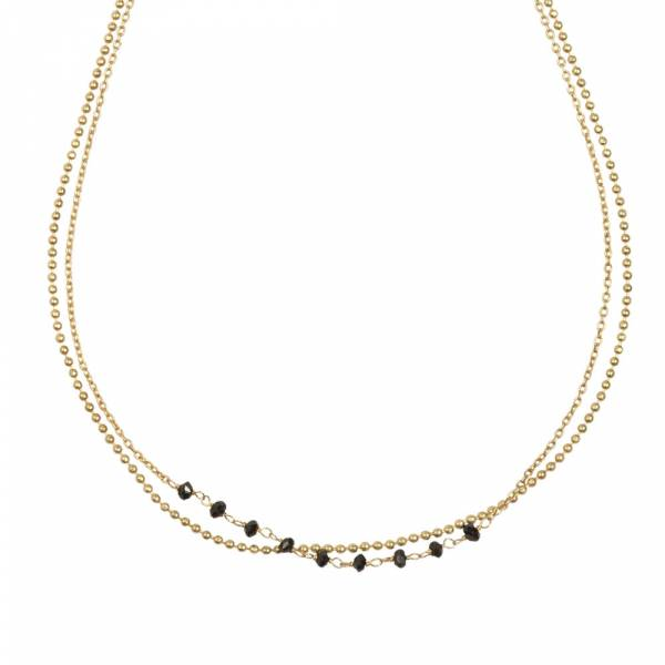 Dreams Black Onyx gold necklace