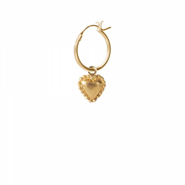 Heart Gold Hoop Earring
