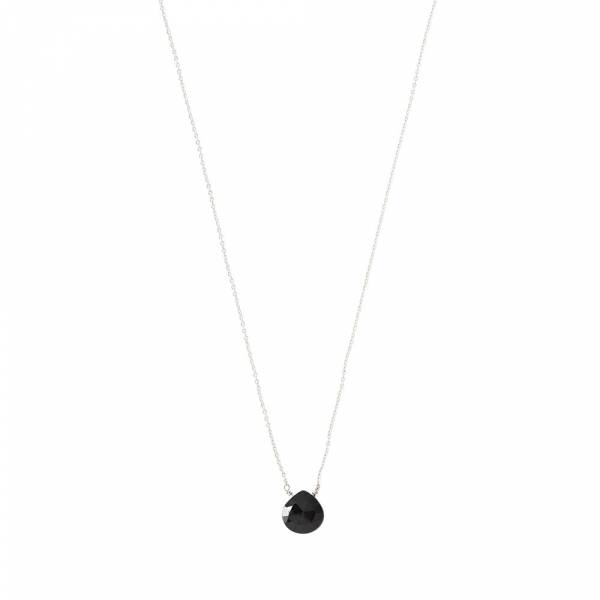 Divine Black Onyx Silver Necklace