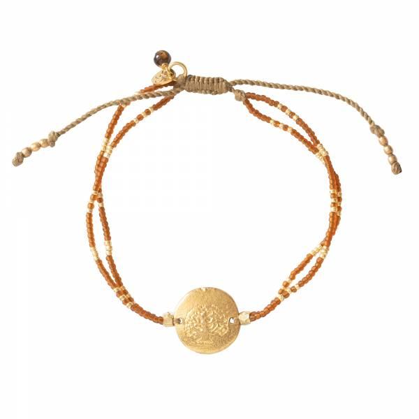 Glitter Tiger Eye Gold bracelet