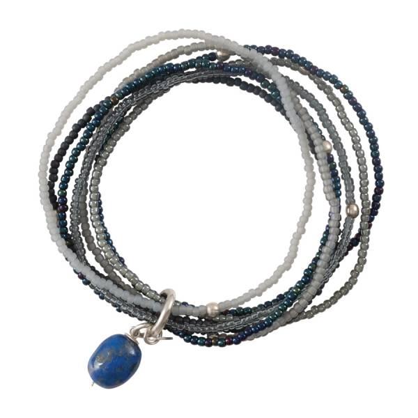 Nirmala Lapis Lazuli Silver Bracelet