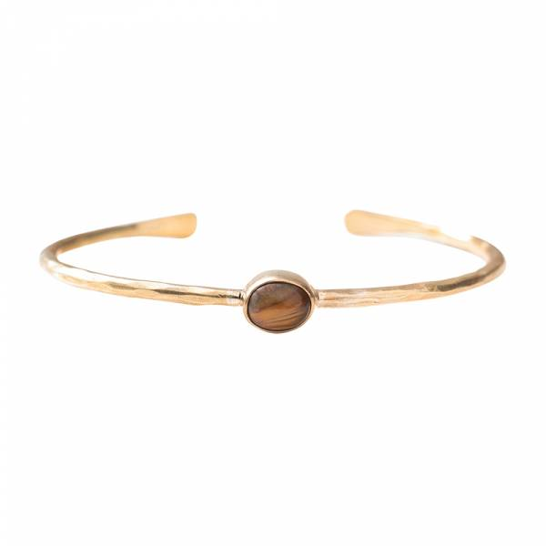 Moonlight Tiger Eye Gold Bracelet