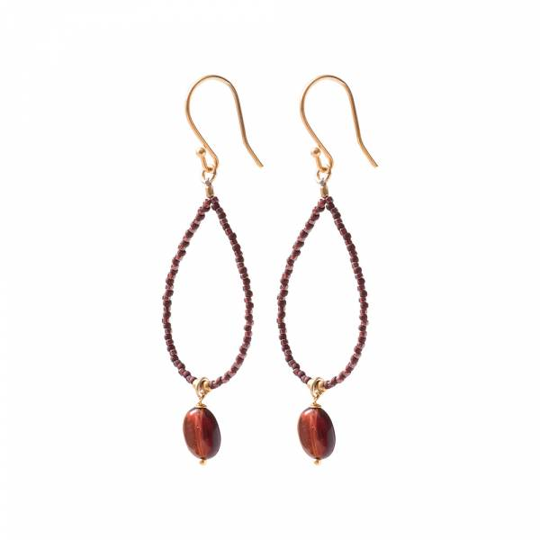 Magical Garnet Gold Earrings