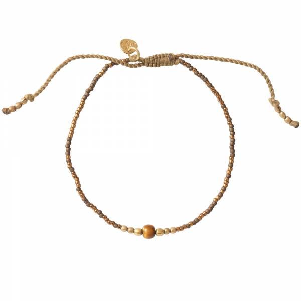 Iris Tiger Eye Gold Bracelet