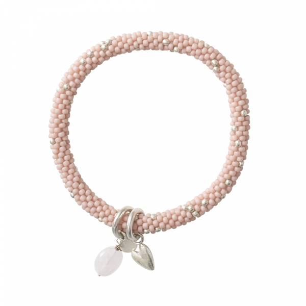 Jacky Multi Color Rose Quartz Silver Bracelet