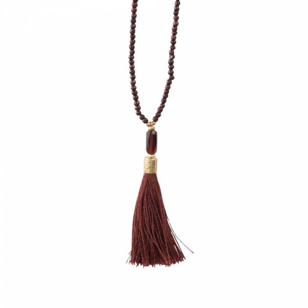 Mala Garnet Gold Necklace
