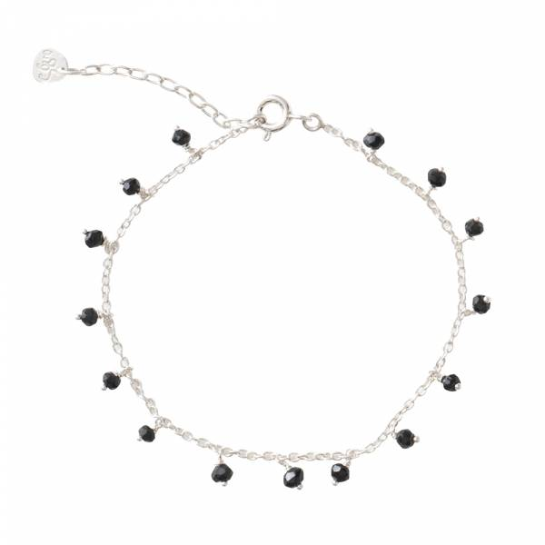 Fine Zwarte Onyx Sterling Zilver Armband