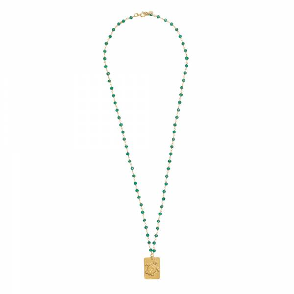 Radiate Aventurine Gold Necklace