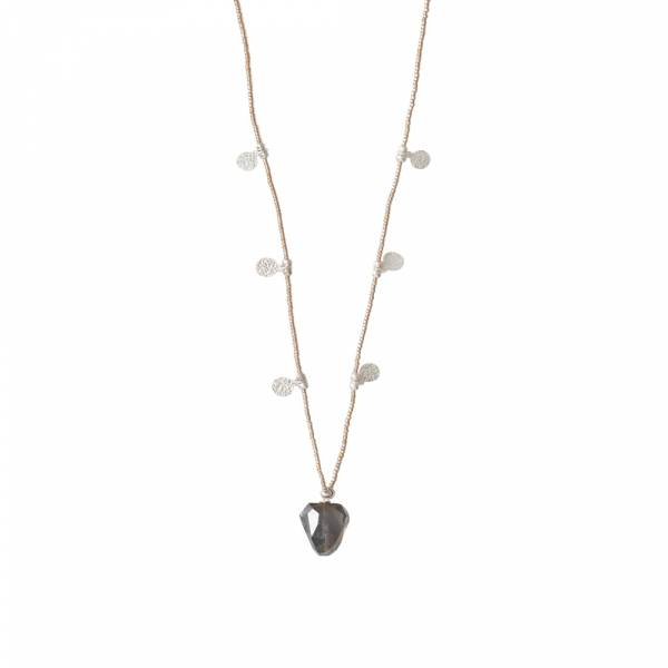 Charming Smokey Quartz Silver necklace