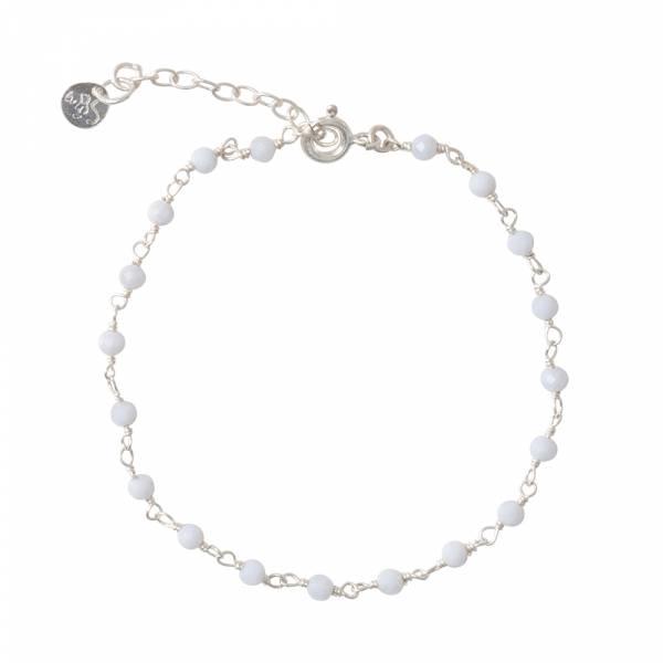 Harmony Blauwe Agaat Zilver Armband