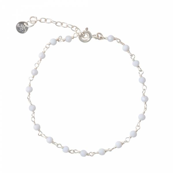 Harmony Blue Lace Agate Silver Bracelet
