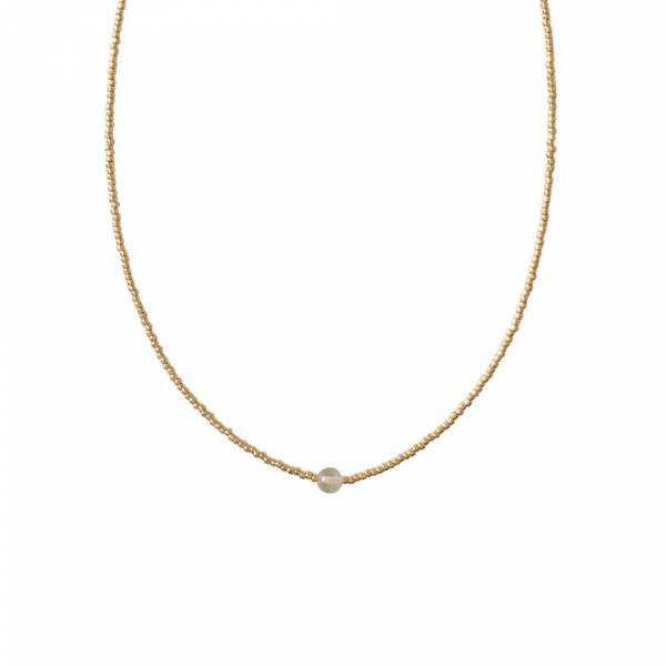 Flora Citrien Goud Ketting