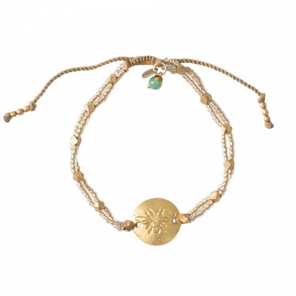 Gratitude Aventurine Gold bracelet