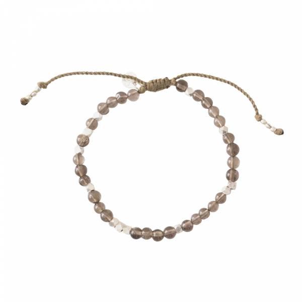 Majestic Smokey Quartz Silver Bracelet
