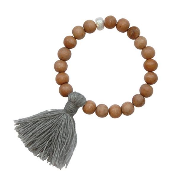 Gypsy Pearl Sandal wood bracelet