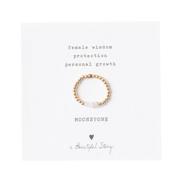 Beauty Moonstone Gold Ring M/L