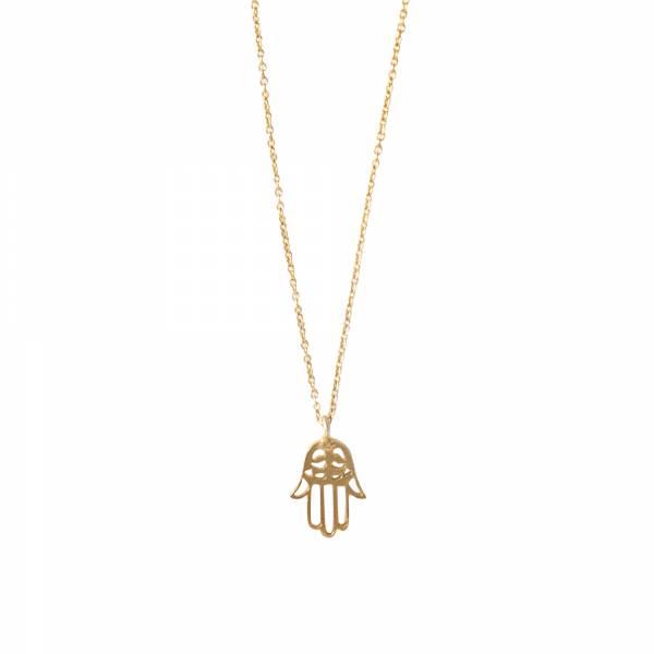 Delicate Hamsa Gold Necklace