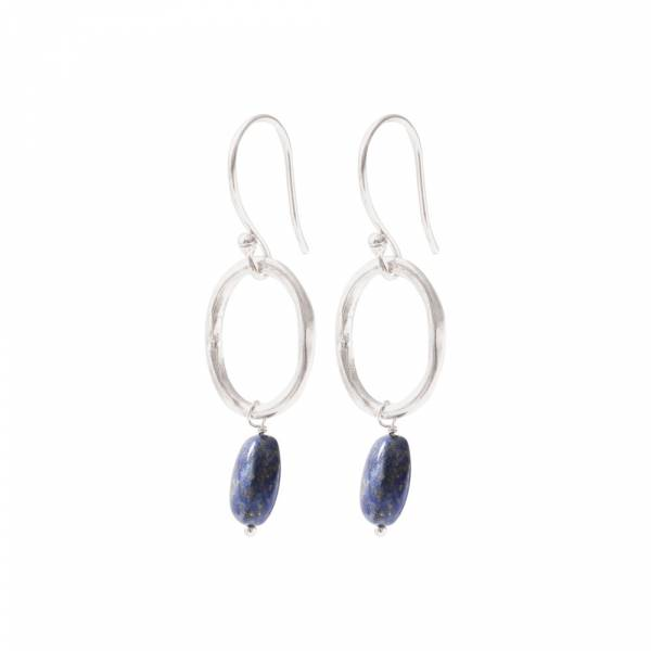 Graceful Lapis Lazuli Silver Earrings