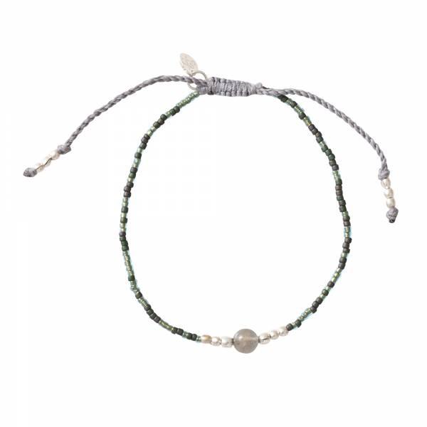 Iris Labradorite Silver Bracelet