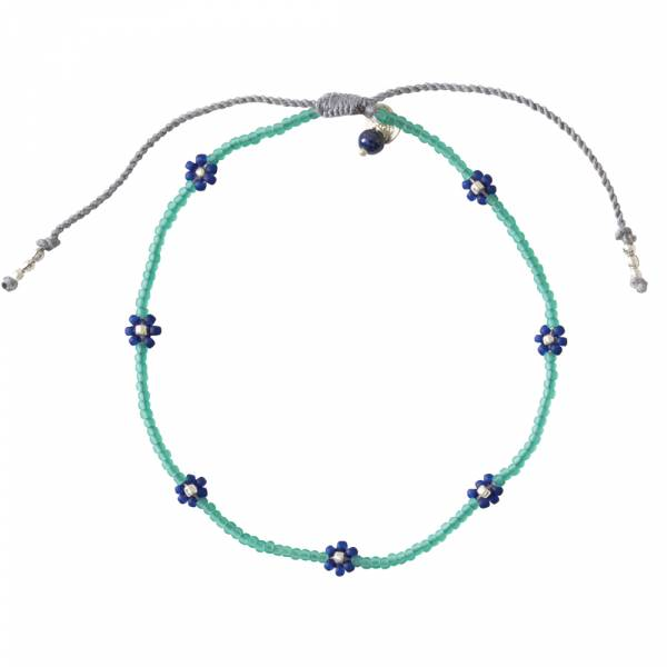 Daisy Lapis Lazuli Silver anklet